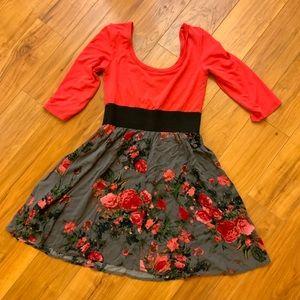 Fall Floral Midi Dress